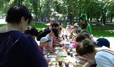 розважальний квест, присвячений  дню захисту дітей, ГО Патріот 2015